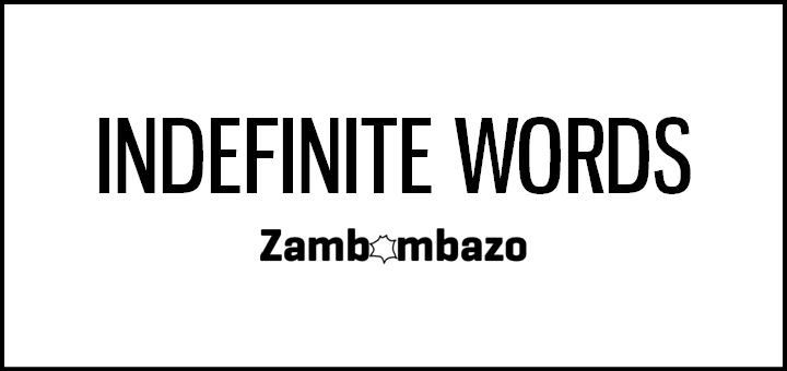 Indefinite Words