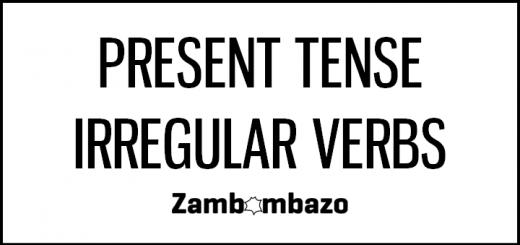 Present Tense Irregular Verbs