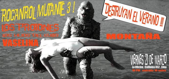 Afiche de Los Protones con El monstruo de la laguna negra