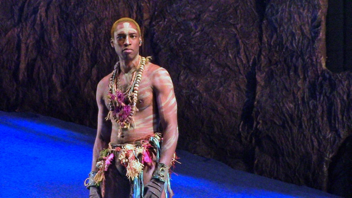 Carl Hendrick Louis as Caliban in The Classical Theater of Harlem's The Tempest