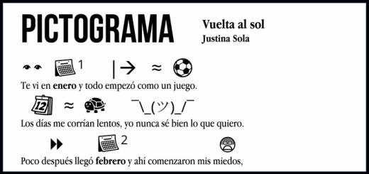 Pictograma: Justina Sola - Vuelta al sol