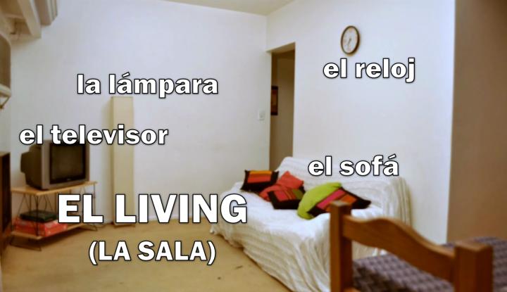 El living (la sala)