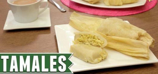 Tamales verdes con pollo