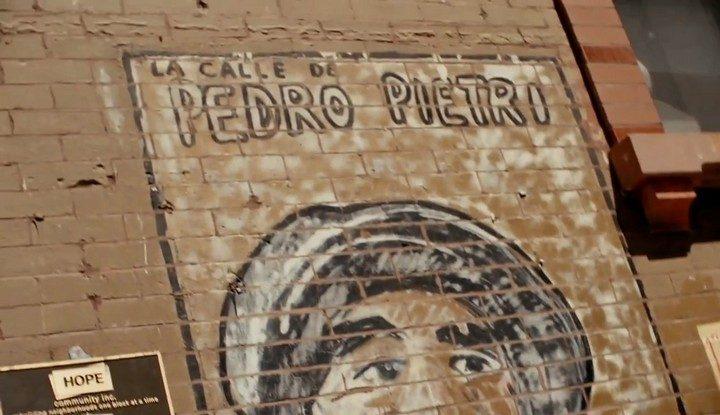La calle de Pedro Pietri (mural, James De la Vega)