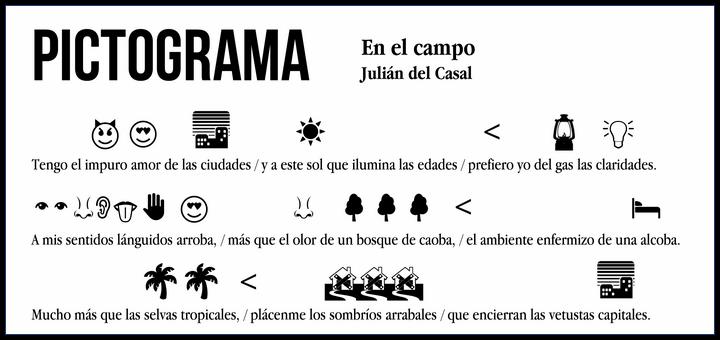 Pictograma: Julián del Casal - En el campo