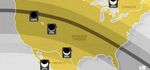 El recorrido del eclipse total de sol