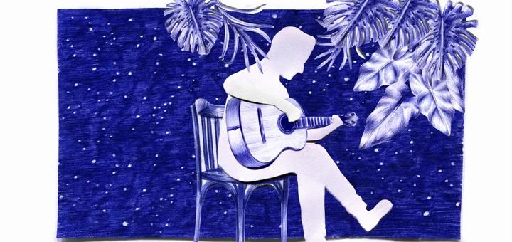 La guitarra y las canciones