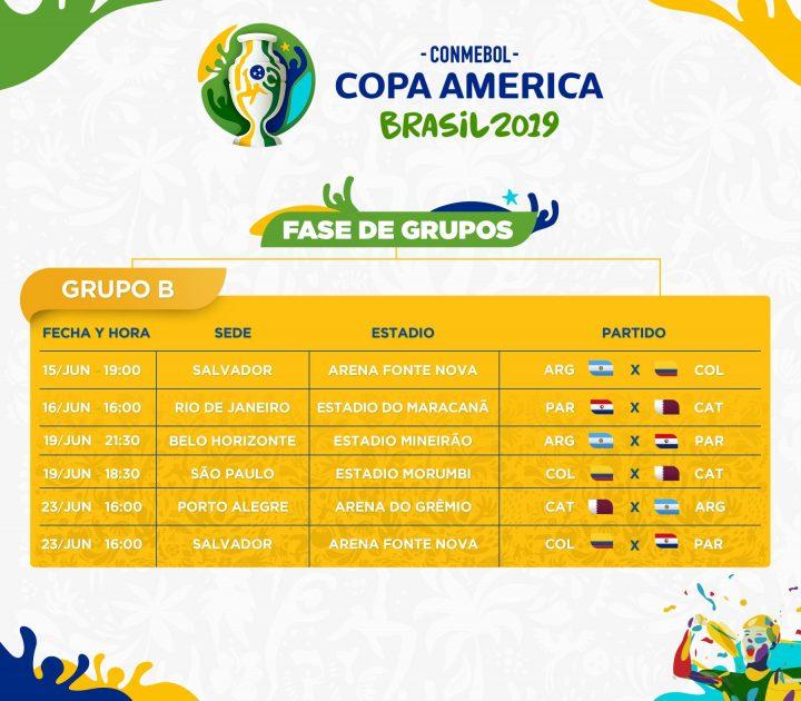 Copa América Brasil 2019: Grupo B