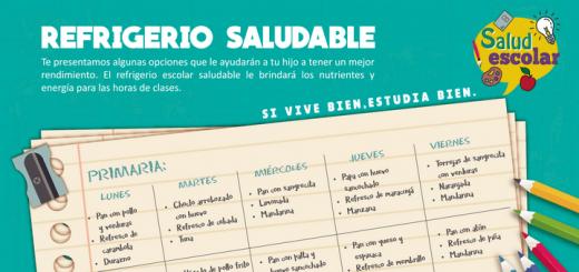 Ministerio de Salud del Perú: Refrigerio saludable