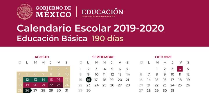Dias Festivo Calendario 2020 Mexico.Billetes Calendario Escolar 2019 2020 Mexico