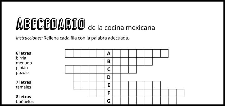 Abecedario de la cocina mexicana