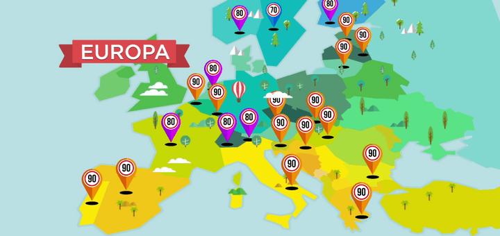 DGTes: Límites de velocidad en Europa